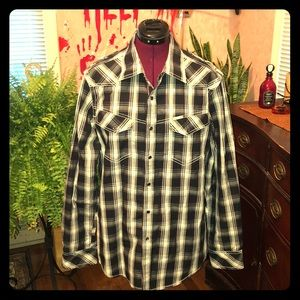 Marc Ecko versatile flannel button down NWOT